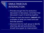 simultaneous interaction