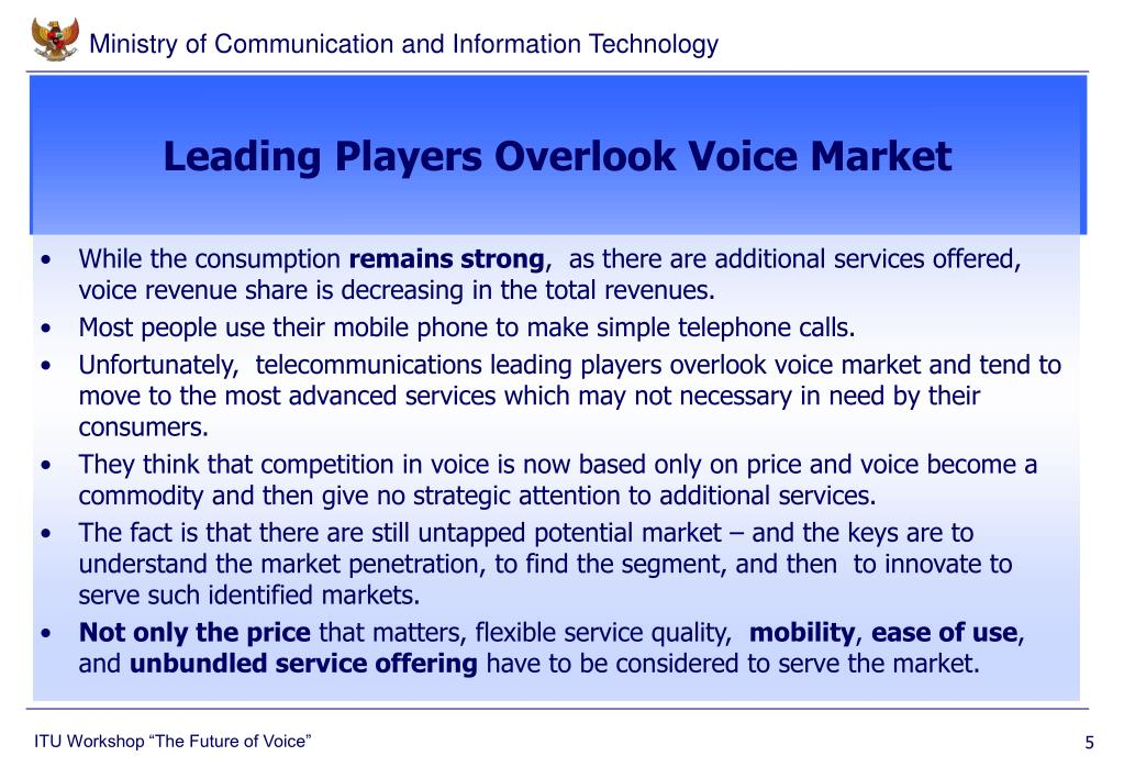 Leading Players Overlook Voice Market