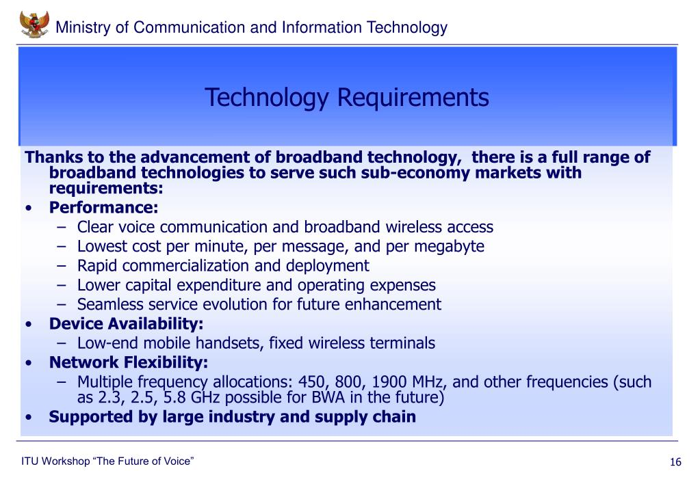 Technology Requirements