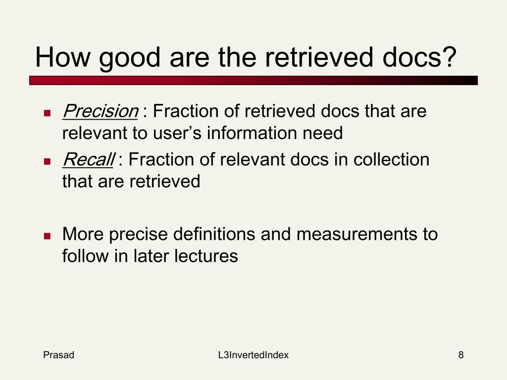 How good are the retrieved docs?