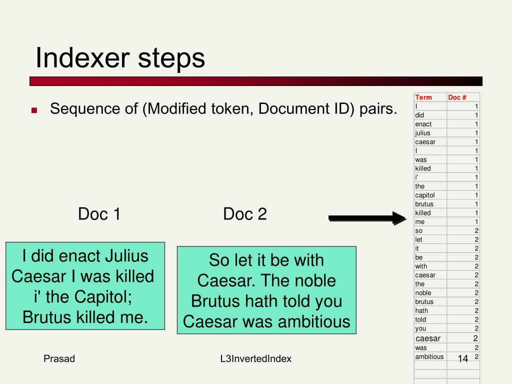 Indexer steps