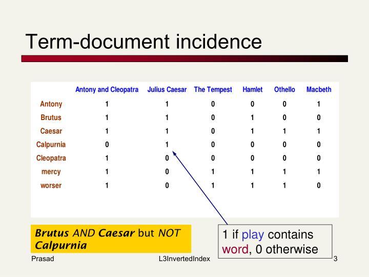Term document incidence