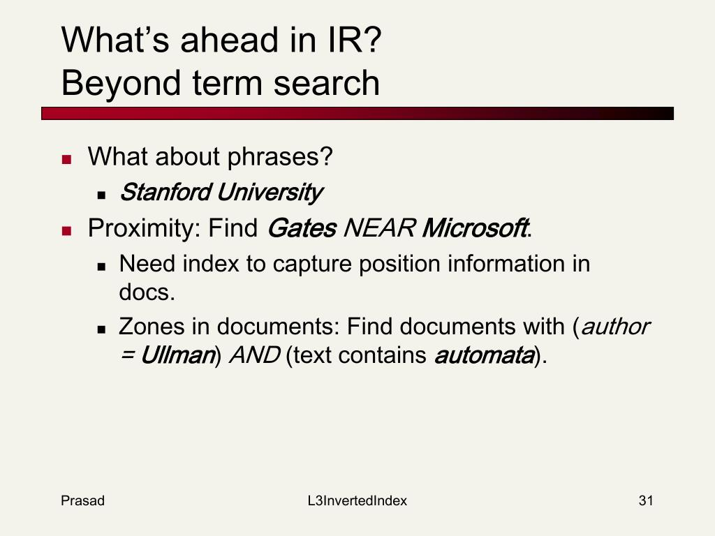 What's ahead in IR?