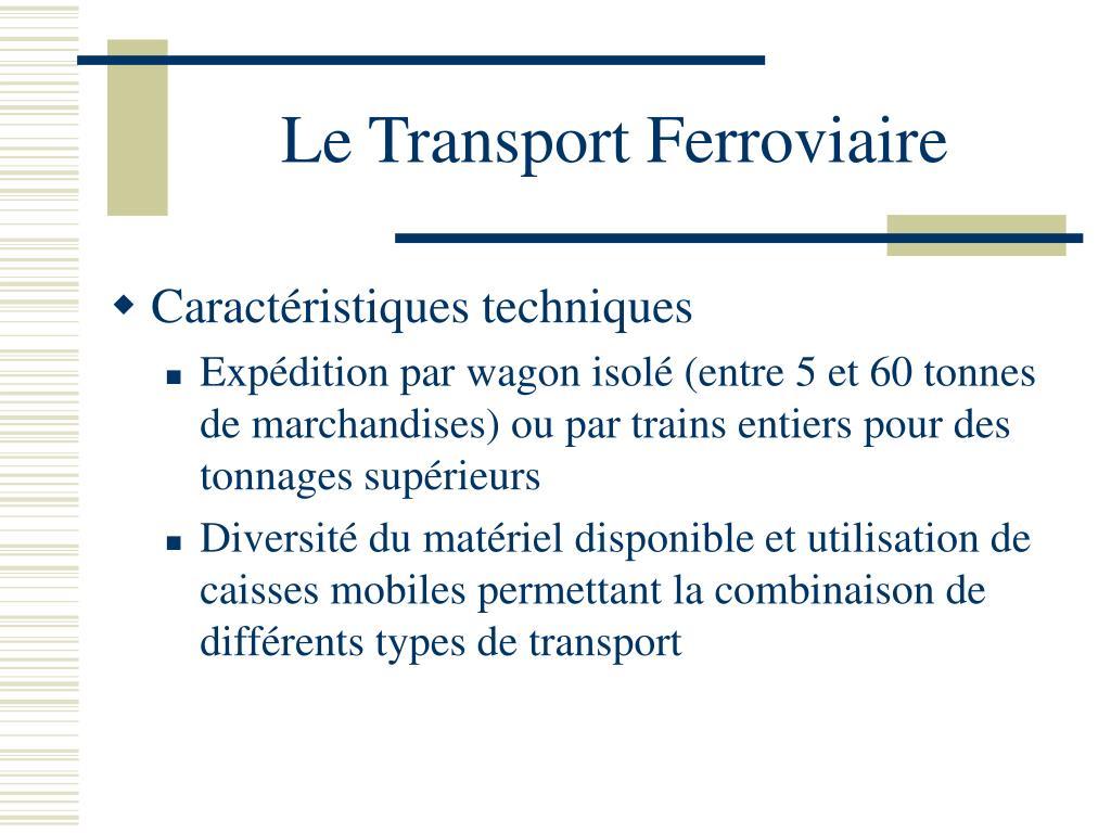 Le Transport Ferroviaire