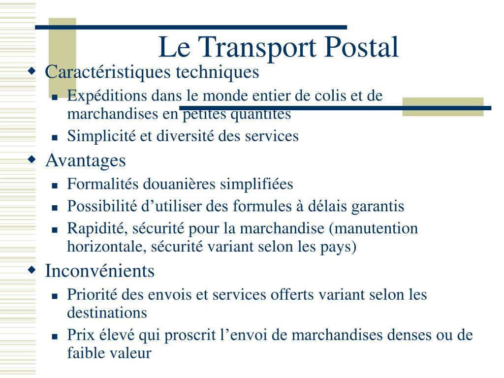 Le Transport Postal
