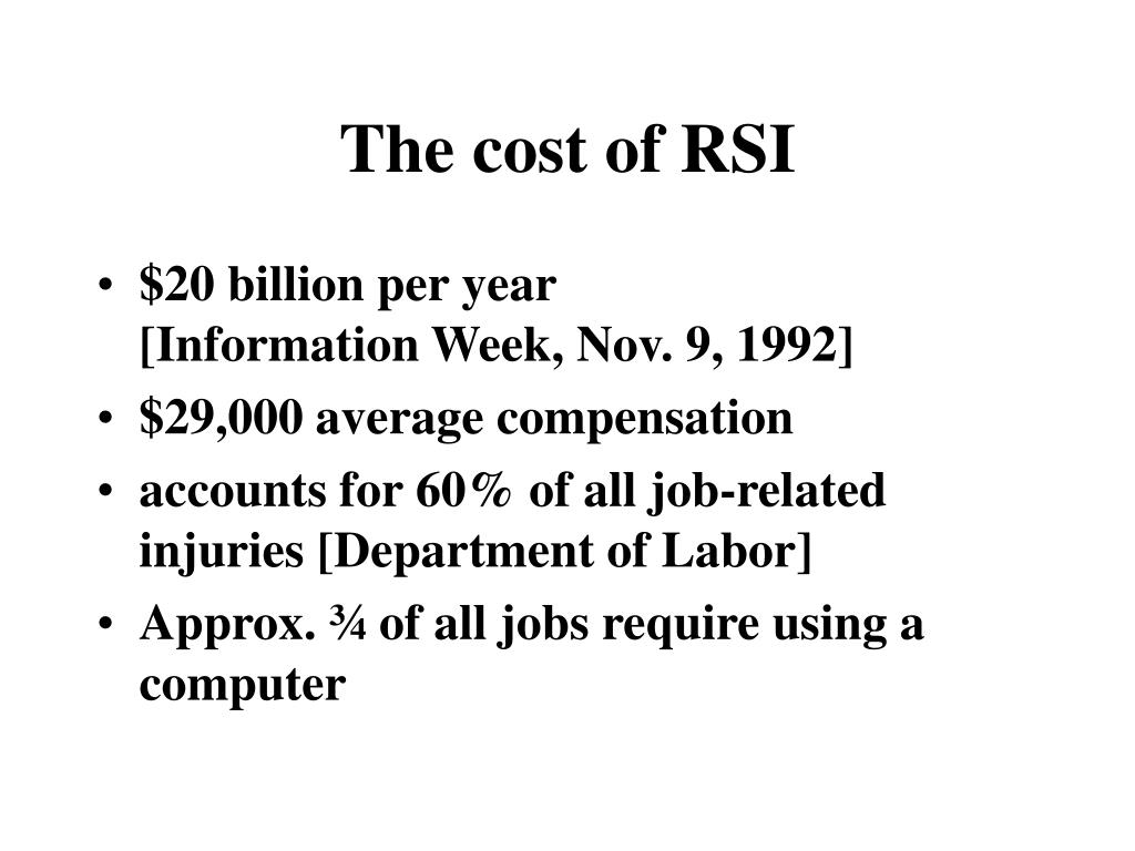 The cost of RSI