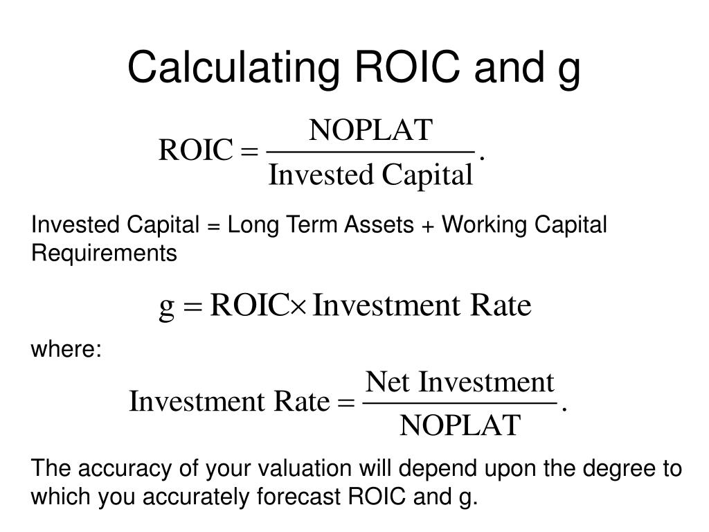 Calculating ROIC and g
