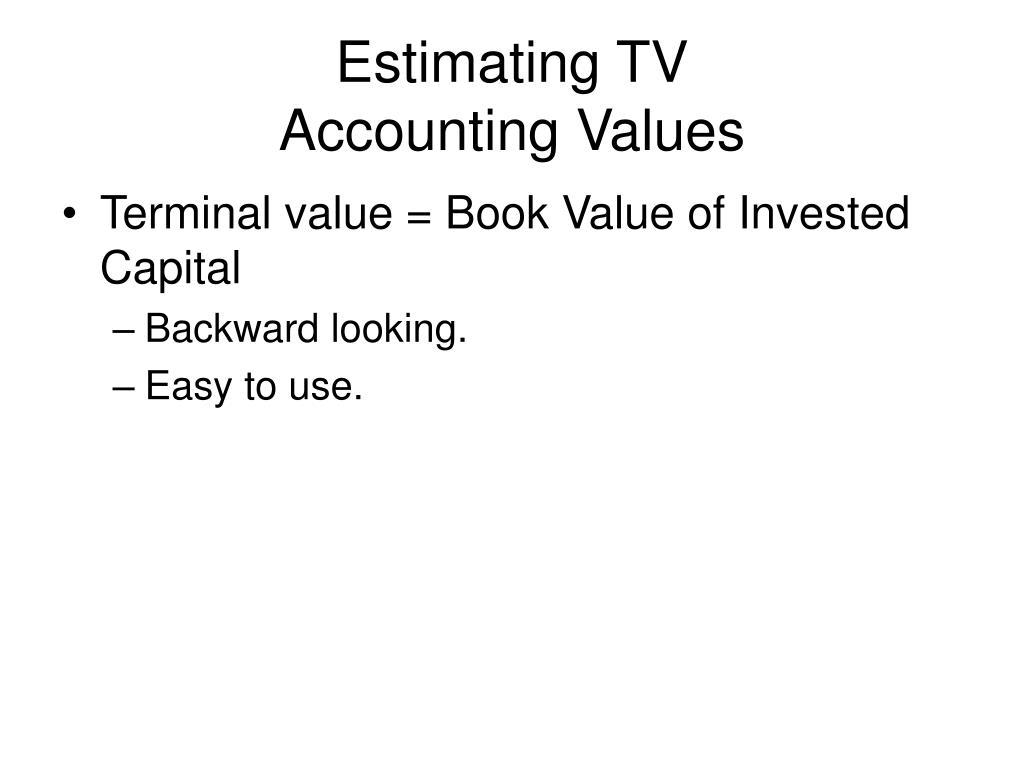 Estimating TV