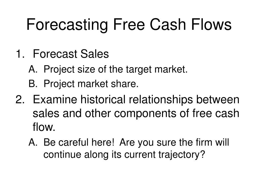 Forecasting Free Cash Flows