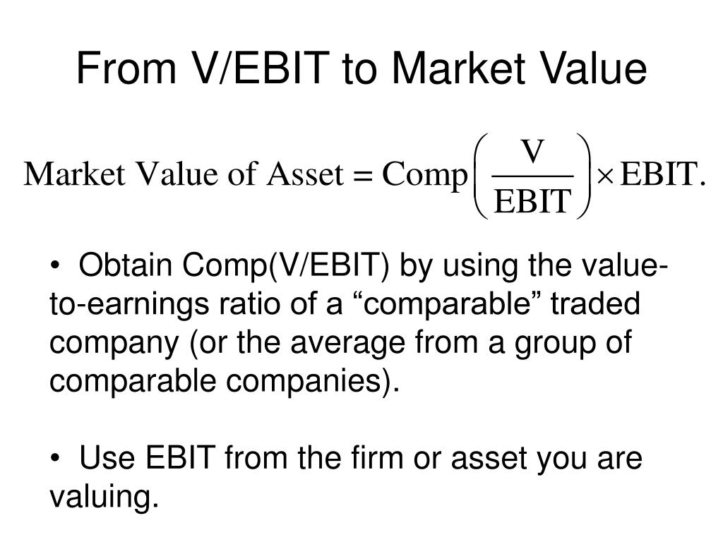 From V/EBIT to Market Value