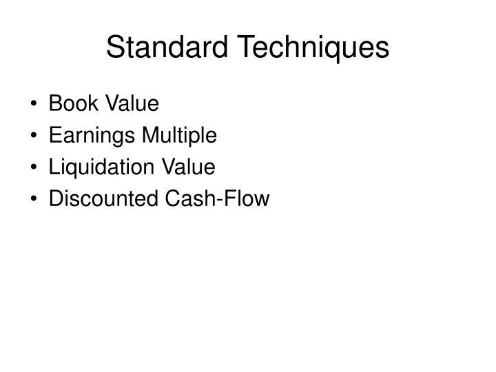 Standard techniques
