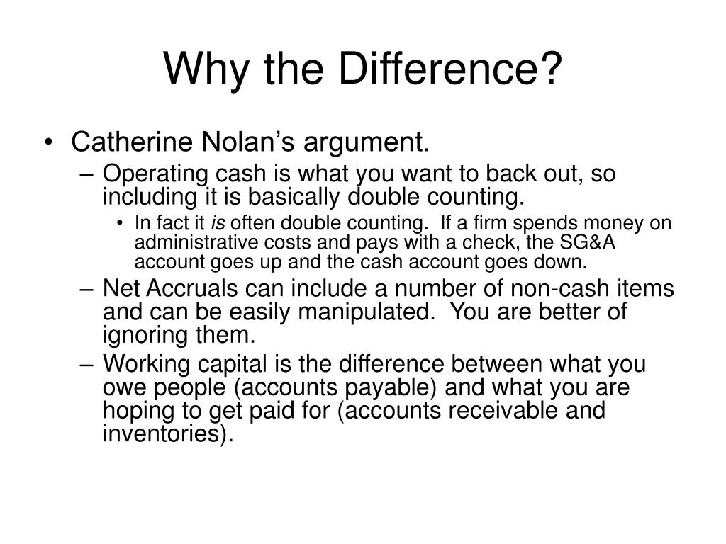 Why the Difference?
