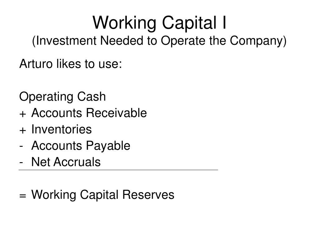 Working Capital I