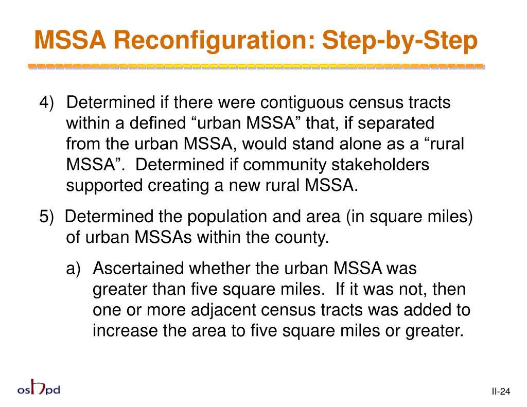 MSSA Reconfiguration: Step-by-Step
