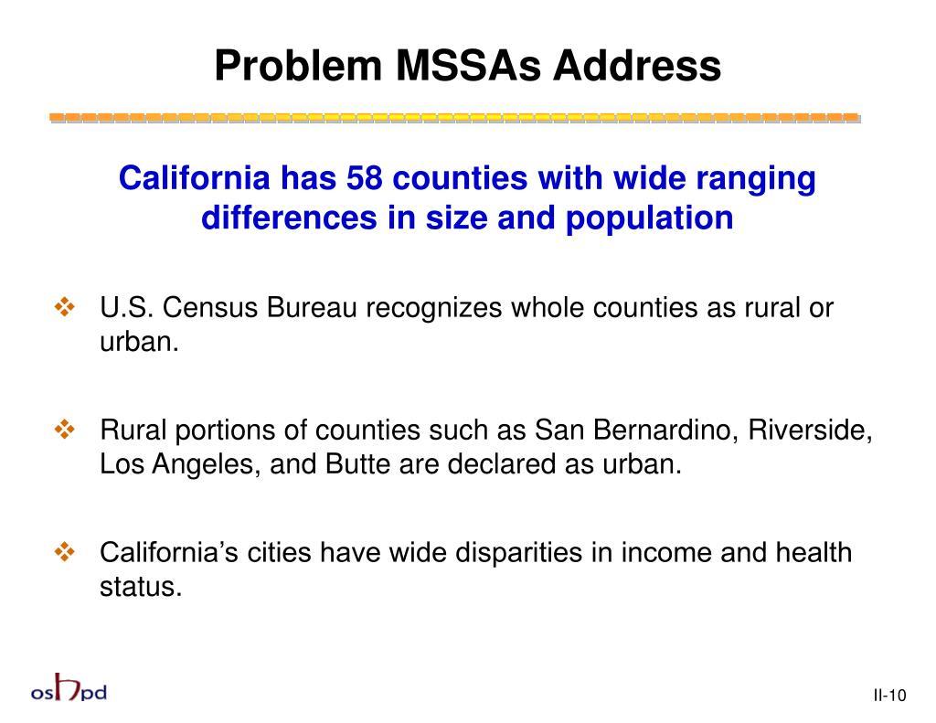 Problem MSSAs Address
