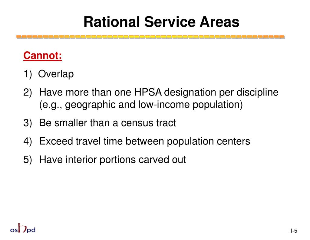 Rational Service Areas