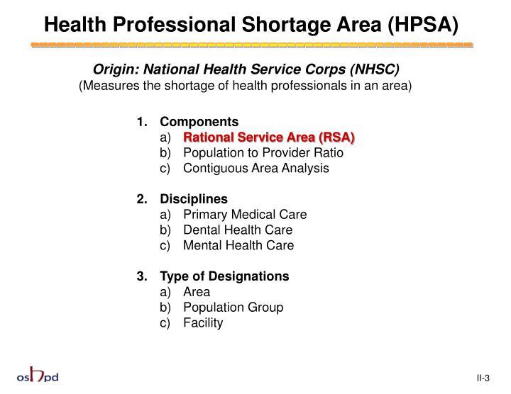 Health Professional Shortage Area (HPSA)