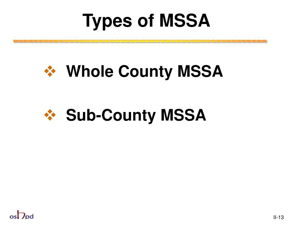 Types of MSSA