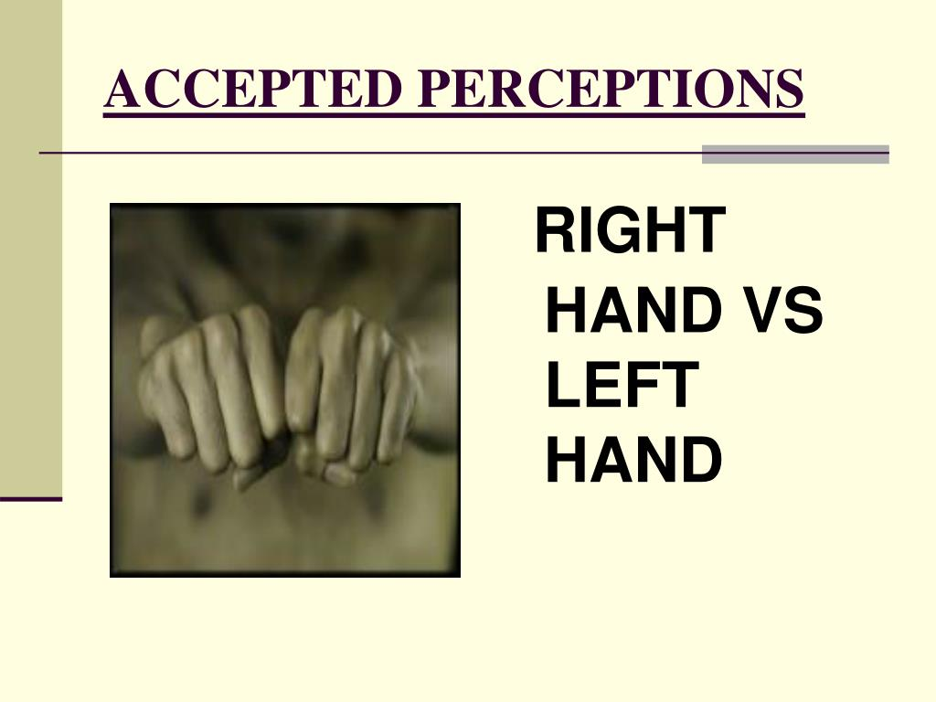 ACCEPTED PERCEPTIONS