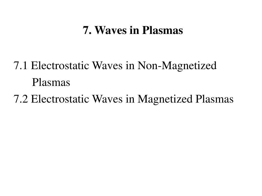 7. Waves in