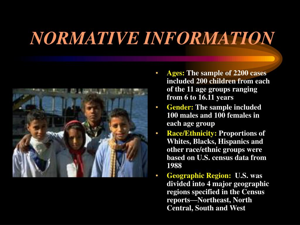 NORMATIVE INFORMATION