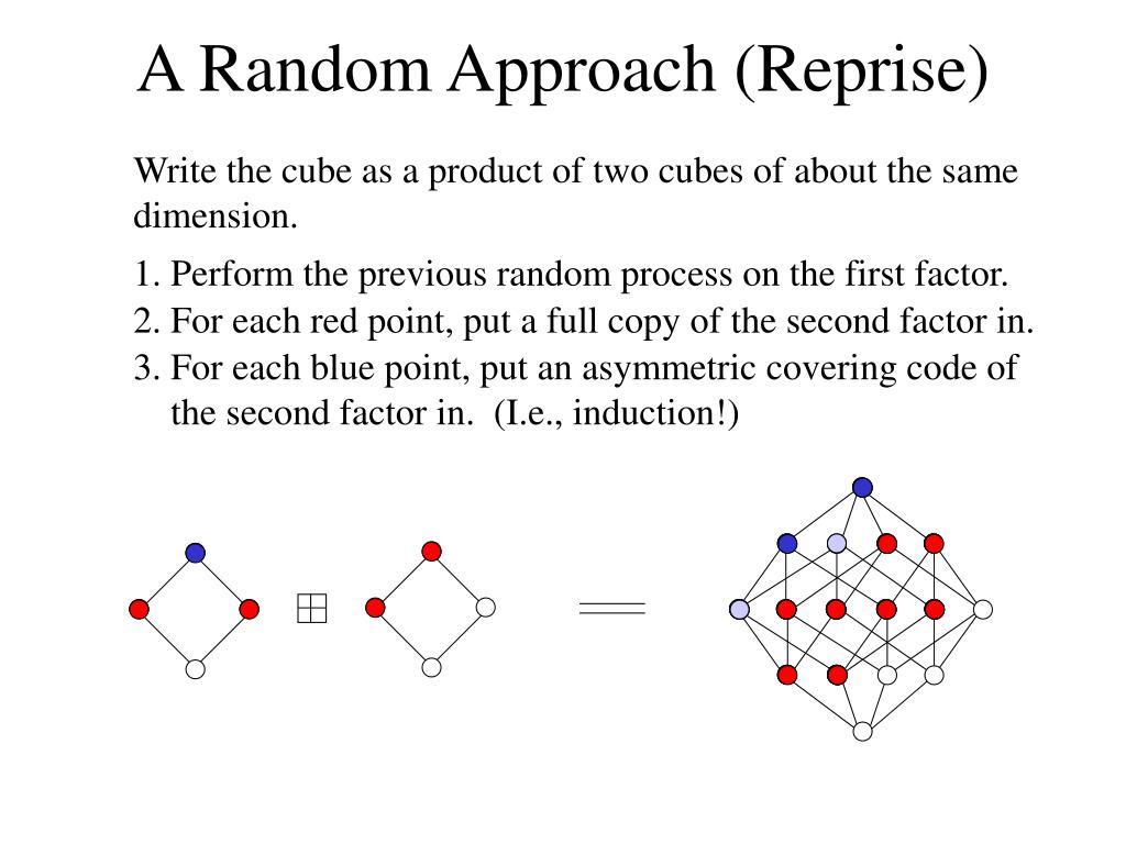 A Random Approach (Reprise)