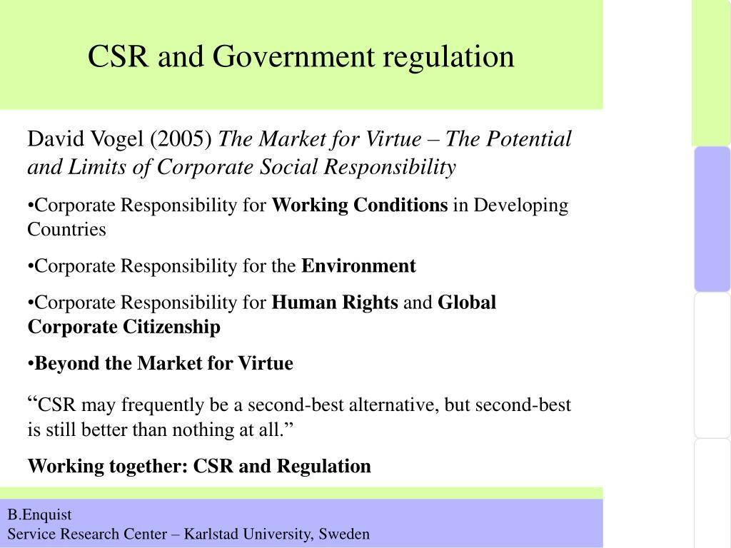 CSR and Government regulation