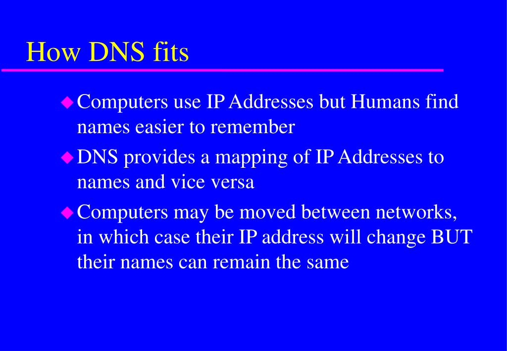 How DNS fits