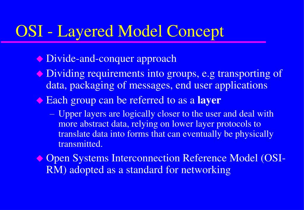 OSI - Layered Model Concept