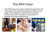 the ikea vision