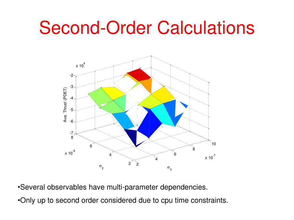 Second-Order Calculations