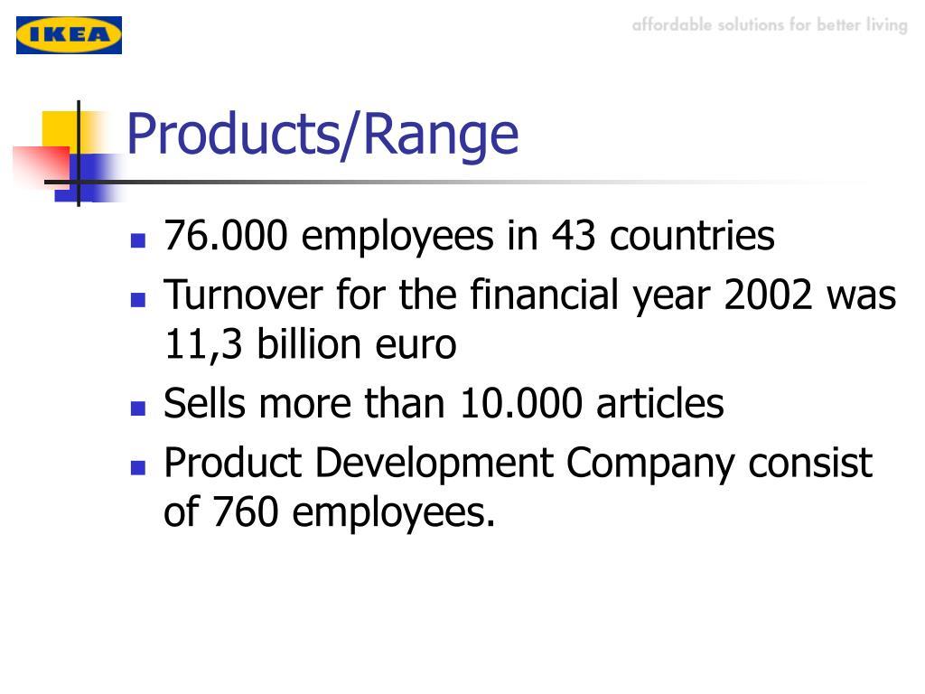 Products/Range