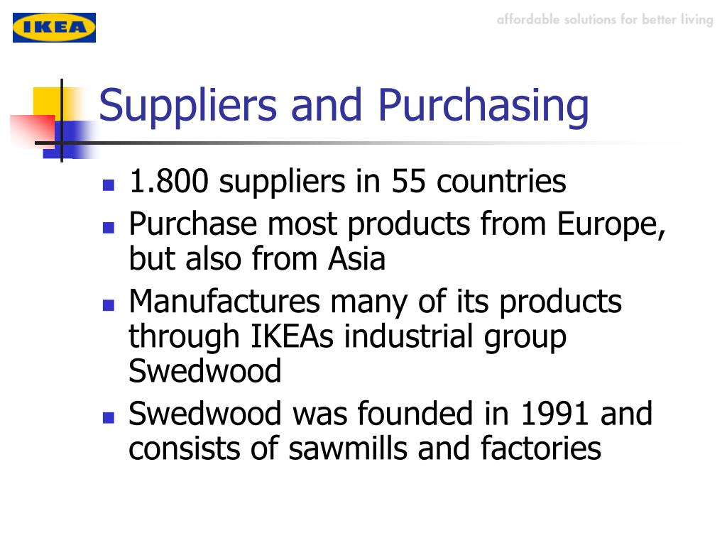 Suppliers and Purchasing
