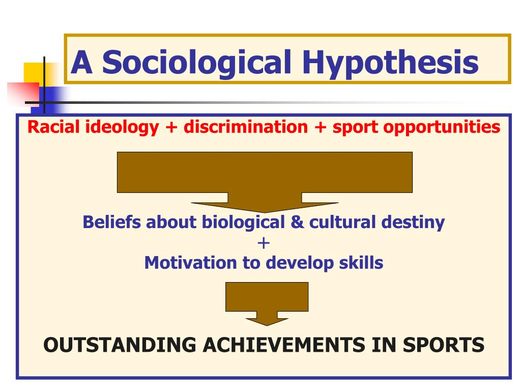 A Sociological Hypothesis