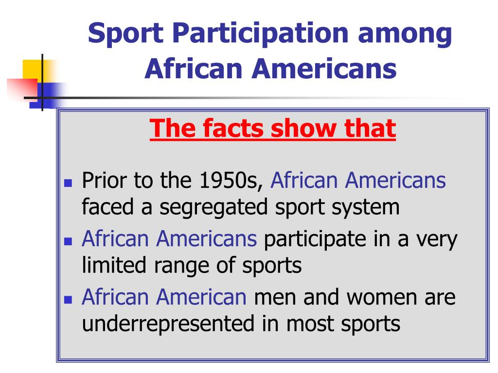 Sport Participation among