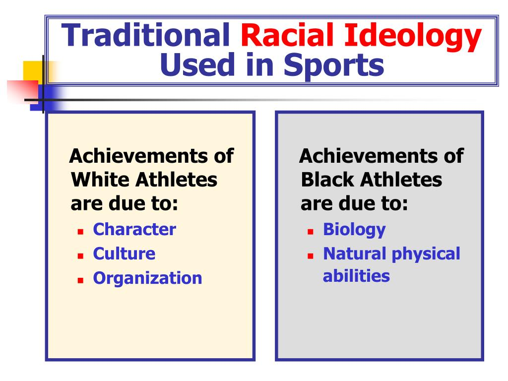 Achievements of White Athletes are due to: