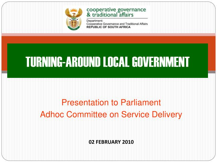 turning around local government n.