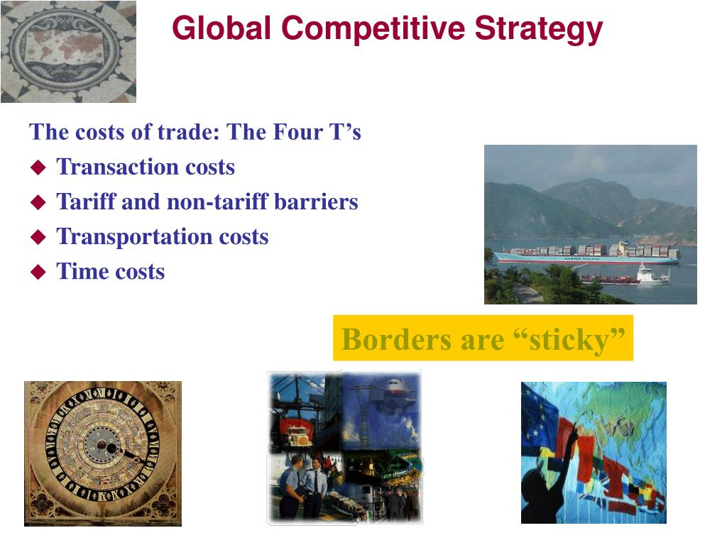 The costs of trade: The Four T's