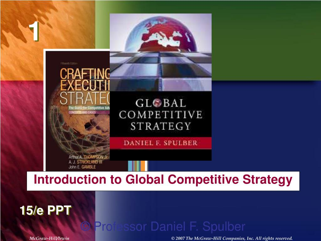 Introduction to Global Competitive Strategy