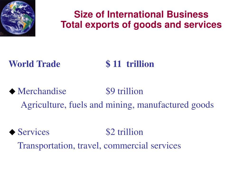 World Trade$ 11  trillion