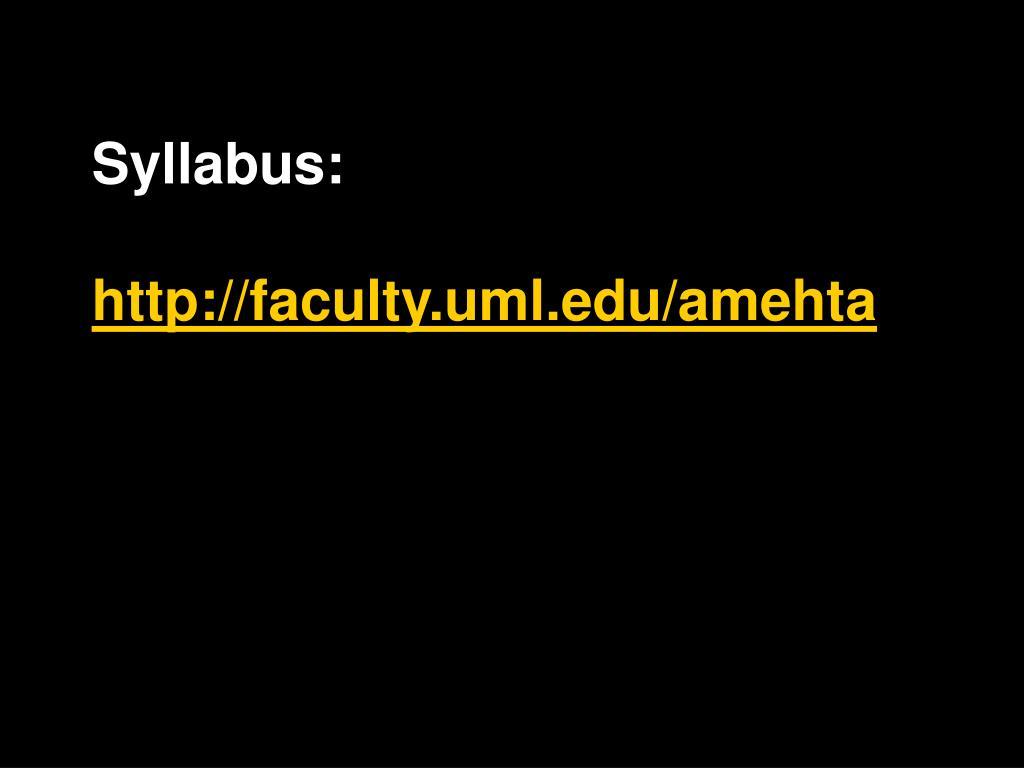 Syllabus: