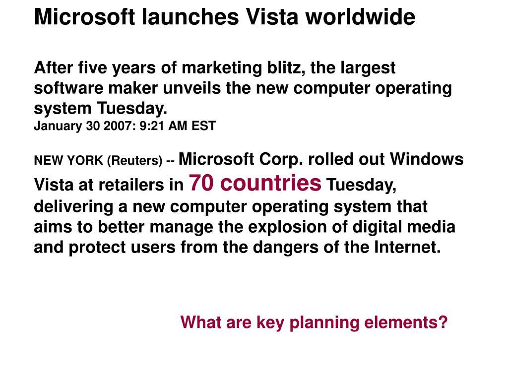 Microsoft launches Vista worldwide