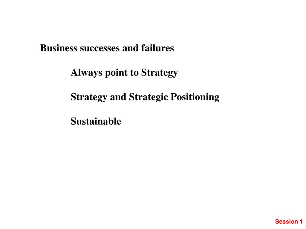 Business successes and failures