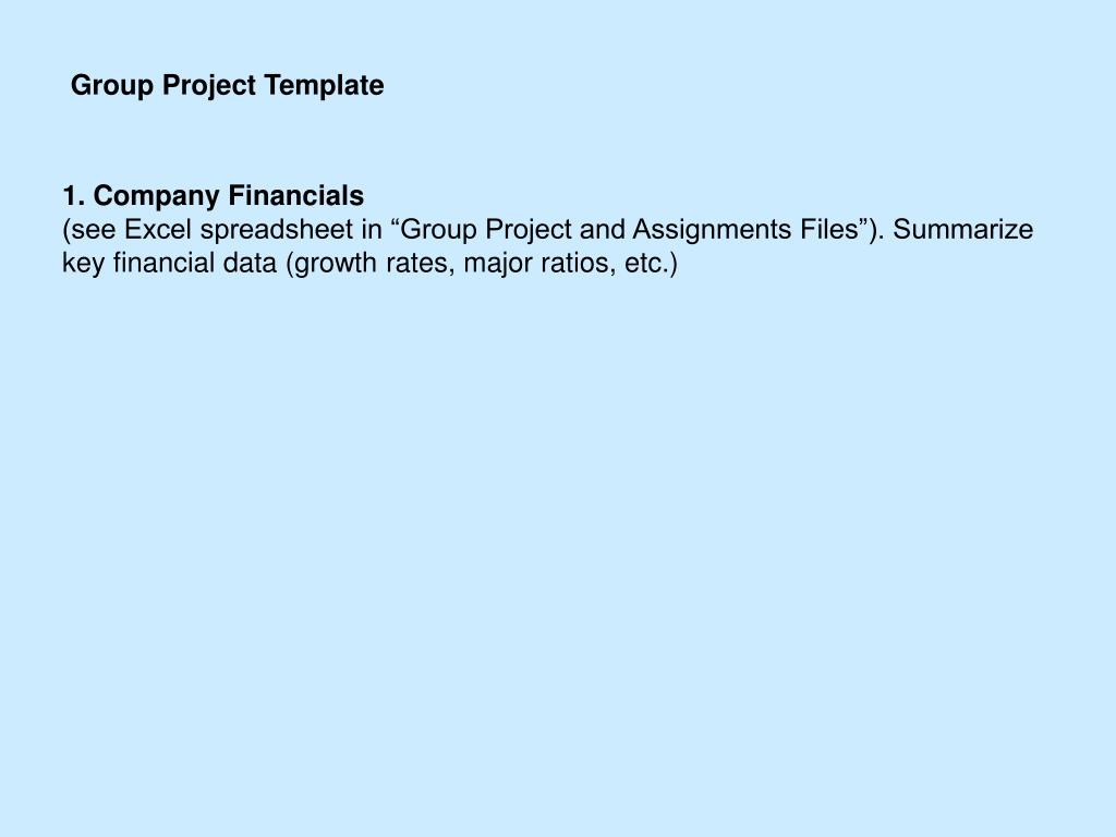 Group Project Template