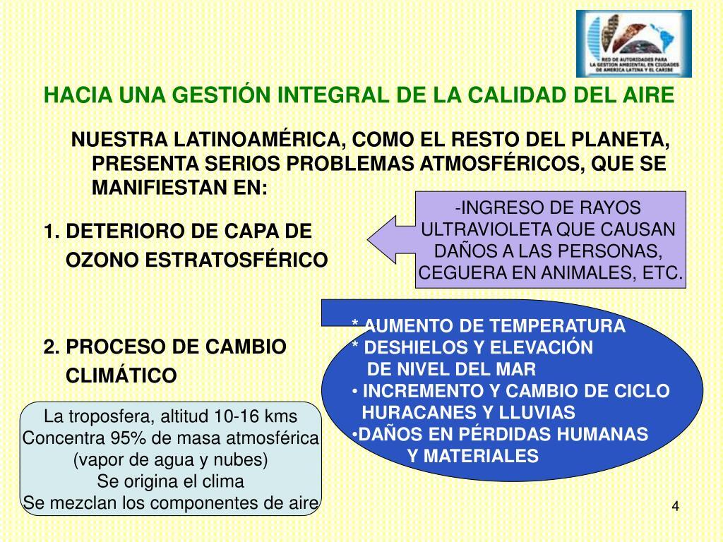 HACIA UNA GESTIÓN INTEGRAL DE LA CALIDAD DEL AIRE