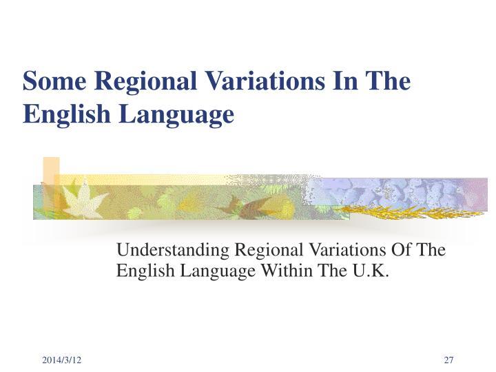 english language variations