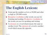 the english lexicon50