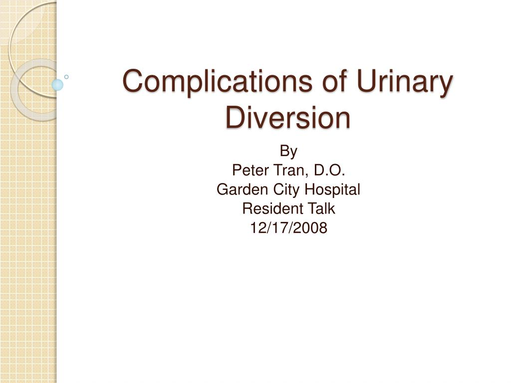 Ppt Complications Of Urinary Diversion Powerpoint Presentation Free Download Id 387632