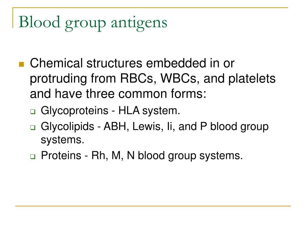 Blood group antigens
