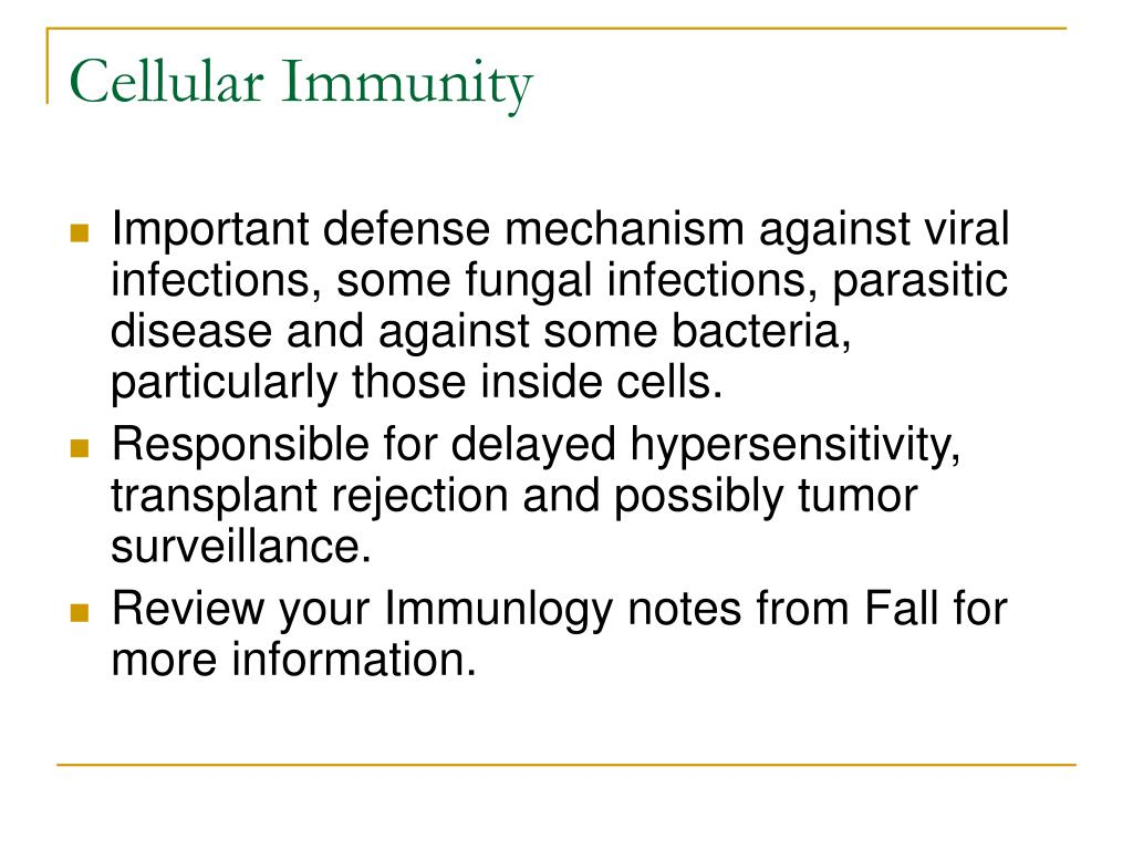 Cellular Immunity